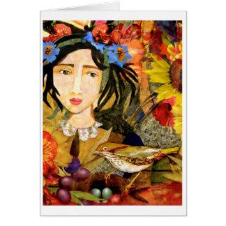 """""""Menina cartão no jardim"""""""