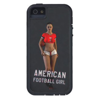 Menina Chablis do futebol americano Capa Tough Xtreme Para iPhone 5