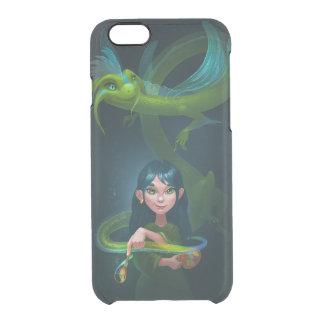 Menina com dragão capa para iPhone 6/6S clear
