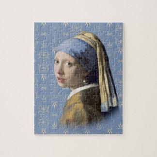 Menina com o brinco da pérola quebra-cabeça jigsaw