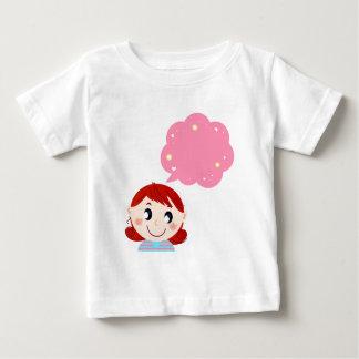 Menina com tshirt da bolha camiseta para bebê