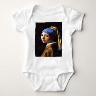 Menina com um brinco da pérola após Johannes Body Para Bebê