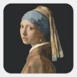 Menina com um brinco da pérola, c.1665-6 (óleo em  adesivos quadrados