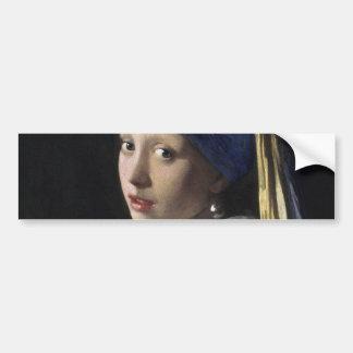 Menina com um brinco da pérola por Johannes Adesivo Para Carro
