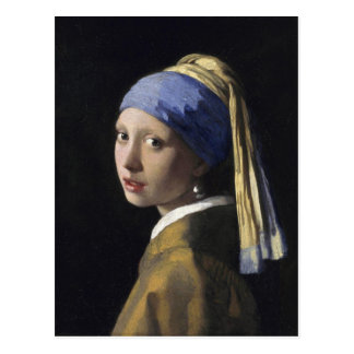 Menina com um brinco da pérola por Johannes Cartão Postal