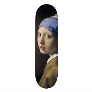 Menina com um brinco da pérola por Johannes Shape De Skate 18,7cm
