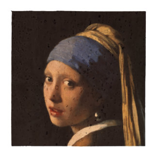 Menina com um brinco da pérola por Johannes Vermee Descanso Para Copos