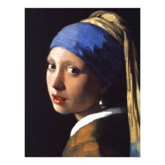 Menina com um brinco da pérola por Vermeer Papel De Carta