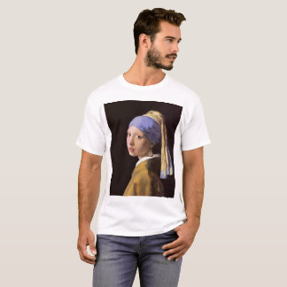 Menina com um brinco do tombadilho camiseta
