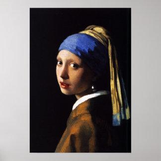 Menina com um poster do brinco da pérola pôster