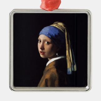 Menina com uma pintura do brinco da pérola por Ver Enfeites
