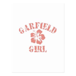 Menina cor-de-rosa das alturas de Garfield Cartão Postal