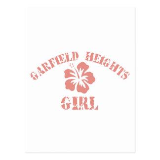 Menina cor-de-rosa de Garfield Cartão Postal
