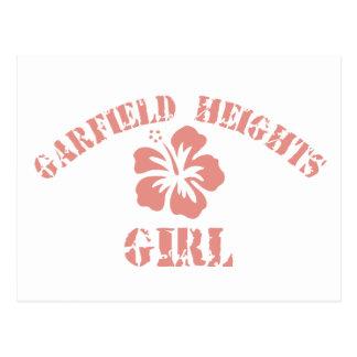 Menina cor-de-rosa de Garfield Cartoes Postais