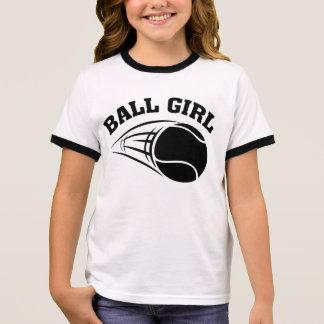 Menina da bola camiseta ringer