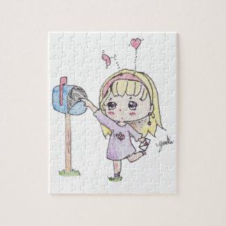 menina da caixa postal quebra-cabeça