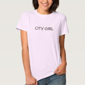 Menina da cidade t-shirt
