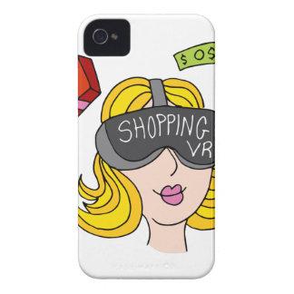 Menina da compra da realidade virtual capa para iPhone 4 Case-Mate