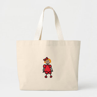 Menina da criança sacola tote jumbo