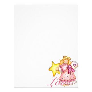 Menina da estrela da arte do país - amor panfletos personalizados
