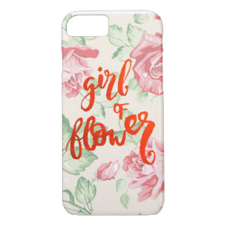 Menina da flor capa iPhone 7
