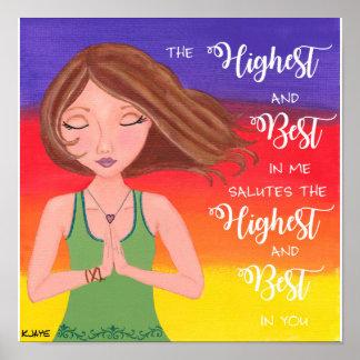 Menina da ioga - impressão das belas artes