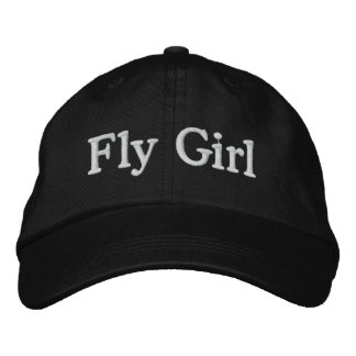 Menina da mosca boné bordado