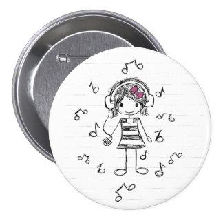 Menina da música! botons