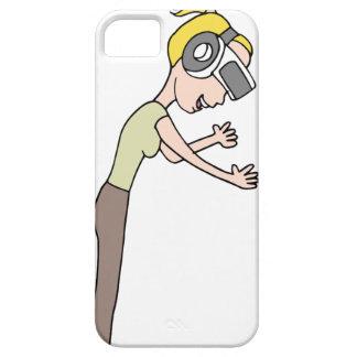 Menina da realidade virtual capa barely there para iPhone 5