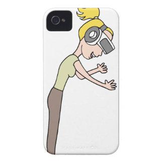 Menina da realidade virtual capa para iPhone