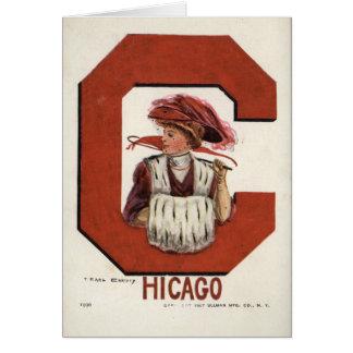 Menina da Universidade de Chicago Cartão Comemorativo