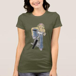 Menina de BMX Camiseta