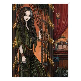 Menina de cafetaria boémia de Rhianon Cartão Postal