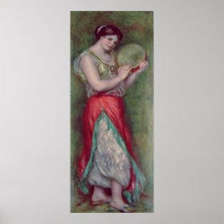 Menina de dança com Pandeiro, 1909 Impressão