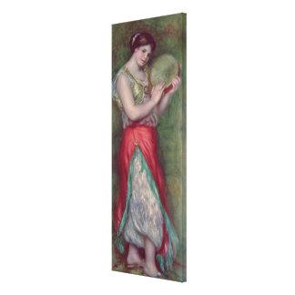 Menina de dança com Pandeiro, 1909 Impressão De Canvas Envolvida