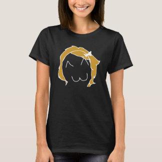 Menina de Derpina Meme para a obscuridade Camiseta