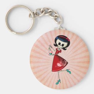 Menina de esqueleto doce & assustador chaveiro