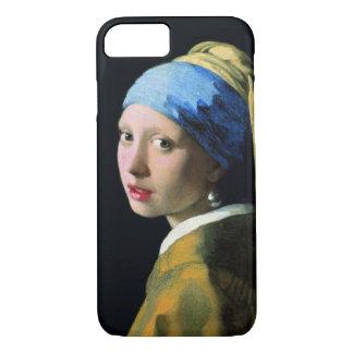Menina de janeiro Vermeer com um brinco da pérola Capa iPhone 7
