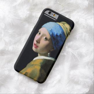 Menina de janeiro Vermeer com um brinco da pérola Capa Barely There Para iPhone 6
