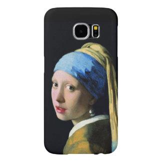 Menina de janeiro Vermeer com um brinco da pérola Capas Samsung Galaxy S6