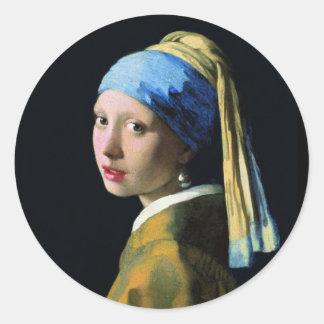 Menina de janeiro Vermeer com uma arte barroco do