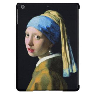 Menina de janeiro Vermeer com uma arte barroco do Capa Para iPad Air