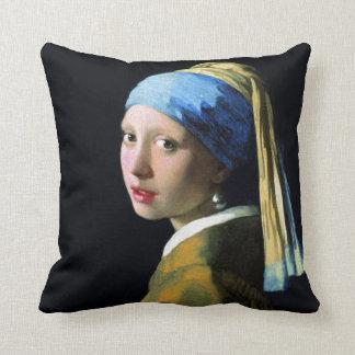 Menina de janeiro Vermeer com uma arte barroco do Travesseiros