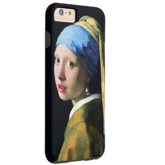 Menina de janeiro Vermeer com uma arte do vintage Capas iPhone 6 Plus Tough