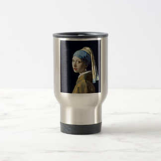 Menina de Johannes Vermeer com um brinco da pérola Caneca Térmica