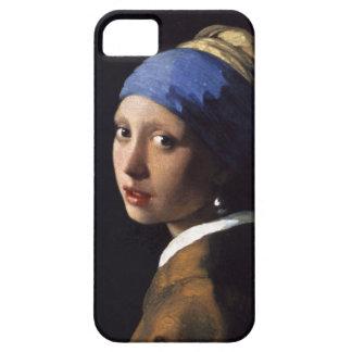 Menina de Johannes Vermeer com um brinco da pérola Capas Para iPhone 5