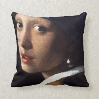 Menina de Johannes Vermeer com um brinco da pérola Travesseiro De Decoração