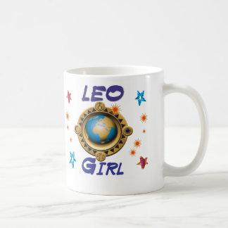 Menina de LEO Caneca De Café