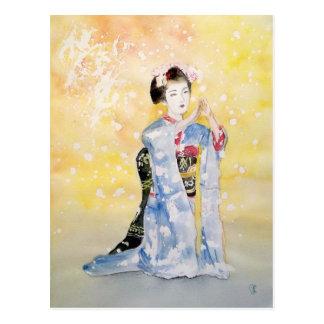 Menina de Maiko -2 Cartão Postal