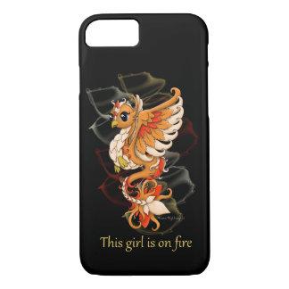 menina de Phoenix da capa de telefone do iPhone no